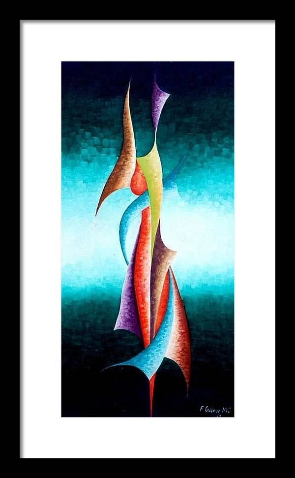 Painting Framed Print featuring the painting Ambition by Fatma Gulnar