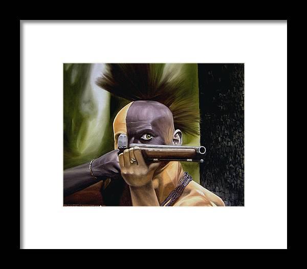 Indian Framed Print featuring the painting Ambush by Marc Stewart