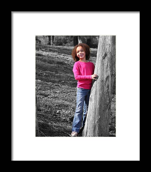 Framed Print featuring the photograph Amelia 2 by Lisa Johnston