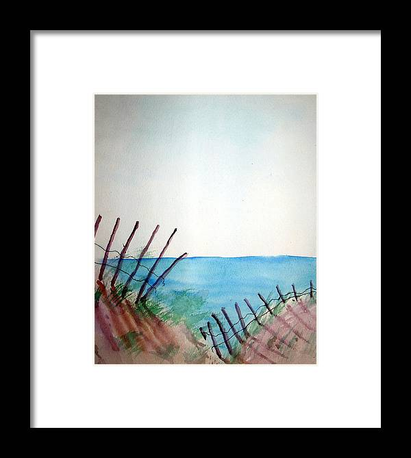 Beach Framed Print featuring the painting Amelia Island by Leigh Odom