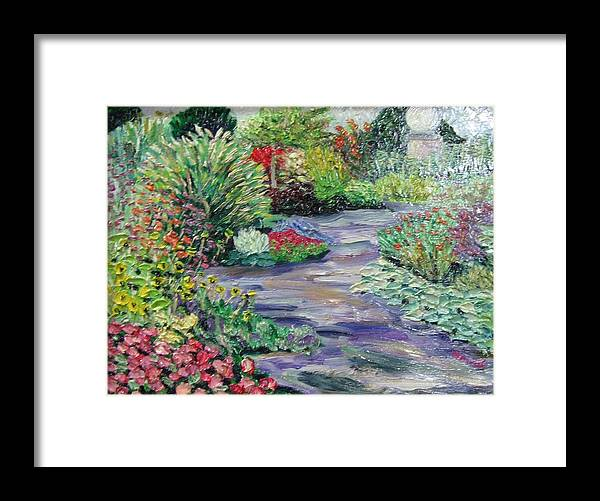 Park Framed Print featuring the painting Amelia Park Blossoms by Richard Nowak