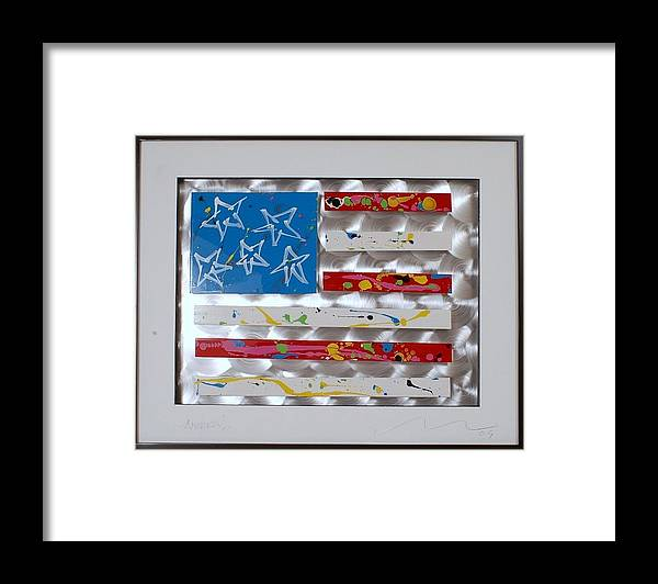 Aluminum Framed Print featuring the sculpture America Edition 5 by Mac Worthington