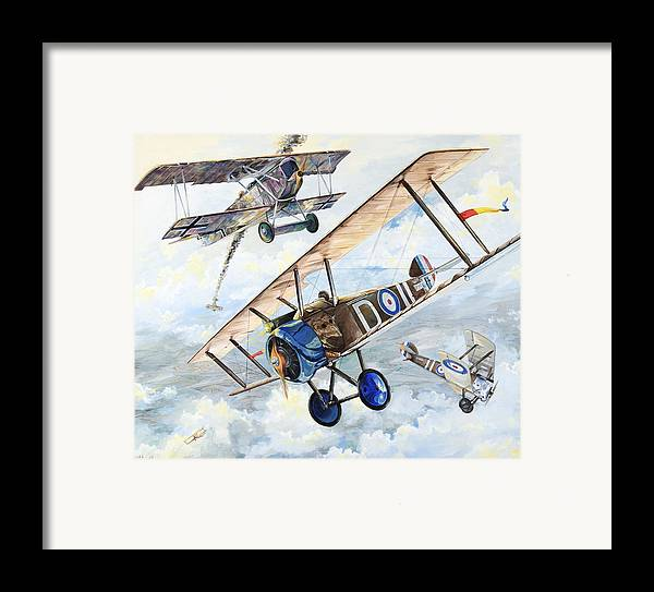 Aircraft Framed Print featuring the painting American Camel by Charles Taylor
