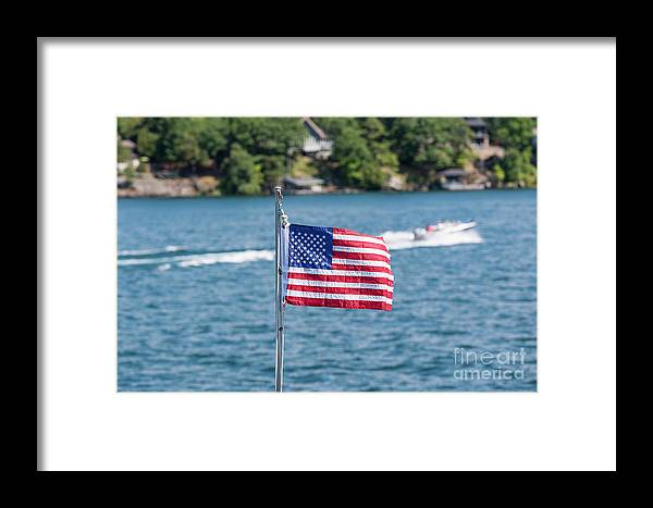 Boathouse Framed Print featuring the photograph American Dream by Les Palenik