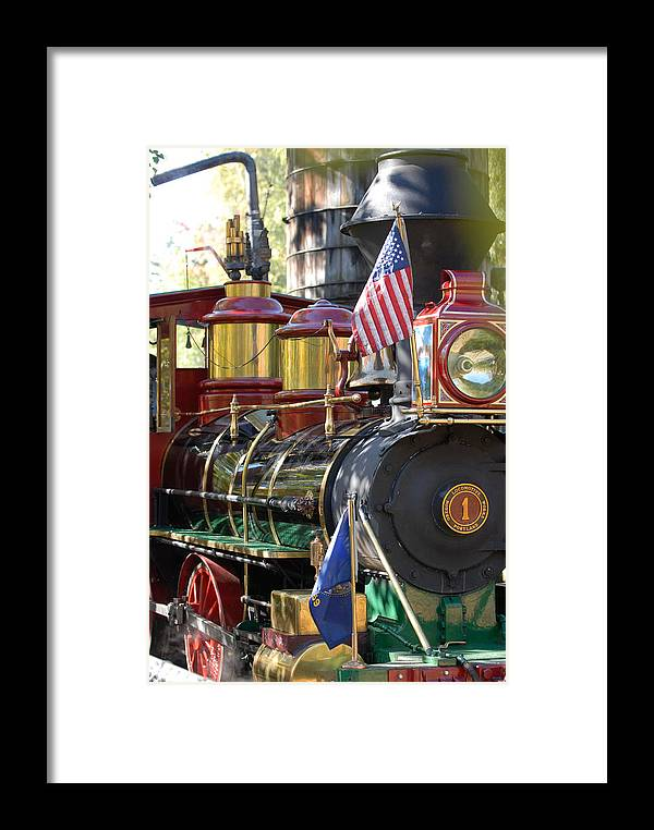 Train Framed Print featuring the photograph American Dream Train by Curtis Gibson