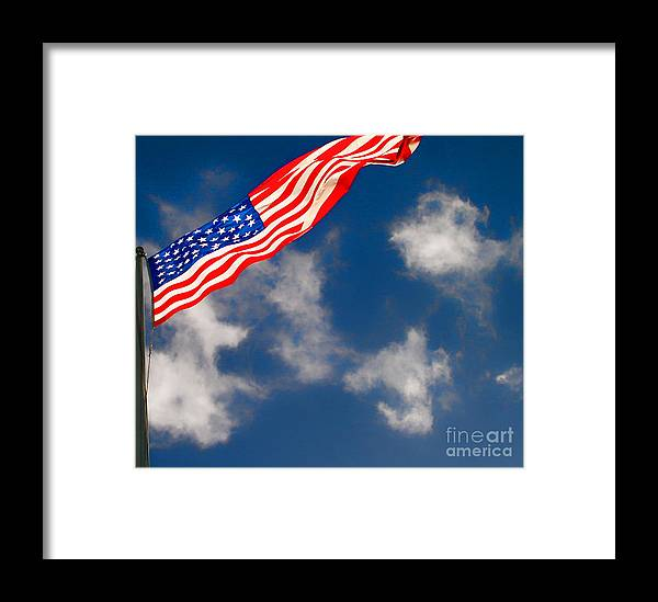 Flag Framed Print featuring the photograph American Flag by Louise Fahy