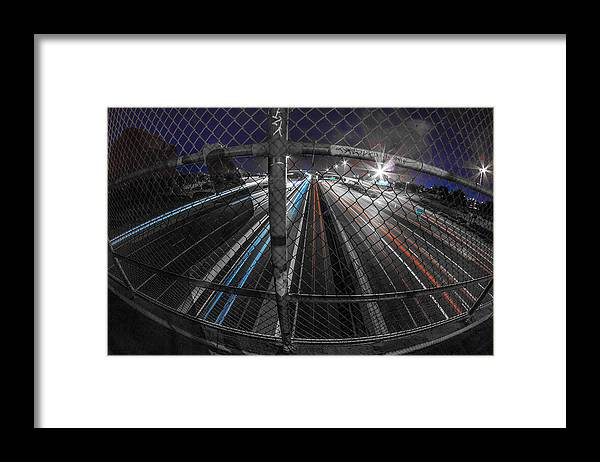 Framed Print featuring the photograph American Highway by Kyle Field