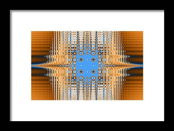 Digital Framed Print featuring the digital art American Indian Weave by Thomas Smith