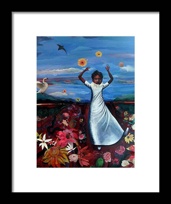 Figure Framed Print featuring the painting American Landscape 2010 by Joyce Owens