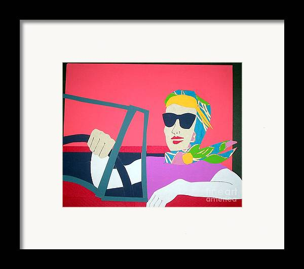 Scarf Framed Print featuring the mixed media American Mask by Debra Bretton Robinson