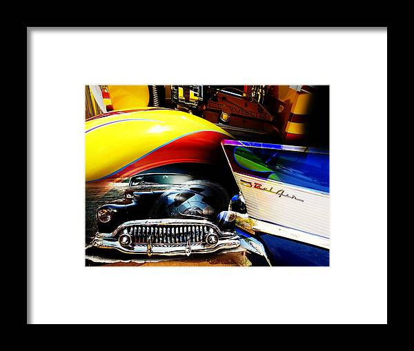 Muscle Cars Framed Print featuring the photograph American Muscle by Phil Bishop