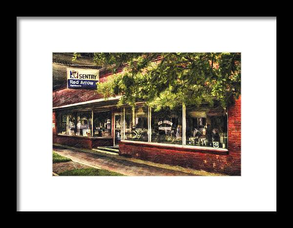 Downtown Framed Print featuring the mixed media American Nostalgia by Marc Parker