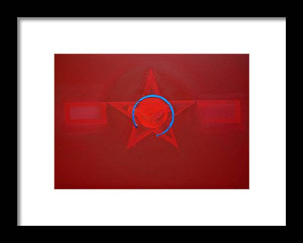 Usaaf Insignia Framed Print featuring the painting American Sky Blue by Charles Stuart