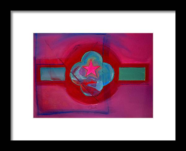 Star Framed Print featuring the painting American Spiritual Decal by Charles Stuart