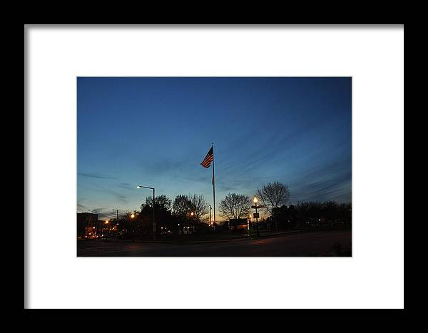 Sunsets Framed Print featuring the photograph American Sunset by Daniel Ness