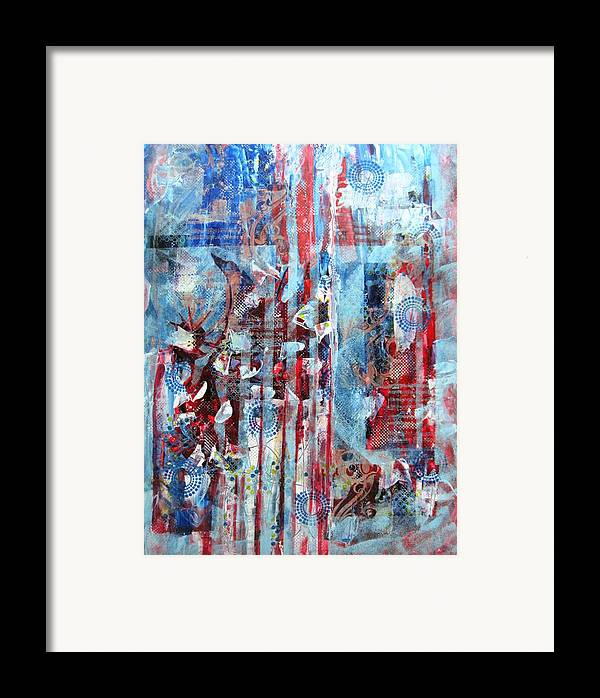 American Framed Print featuring the painting American Tribute by David Raderstorf