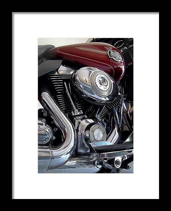 American Framed Print featuring the photograph American V-twin by David Manlove