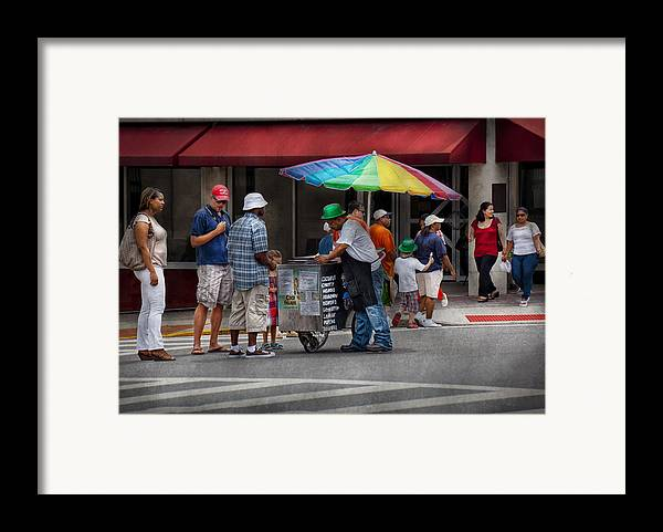 Hdr Framed Print featuring the photograph Americana - Mountainside Nj - Buying Ices by Mike Savad