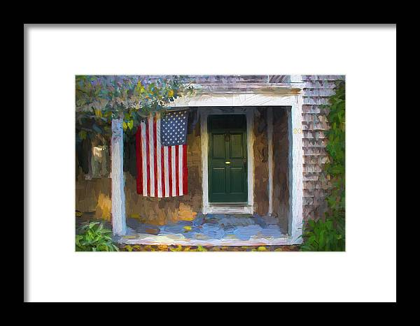 American Framed Print featuring the photograph Americana Series 14 by Carlos Diaz
