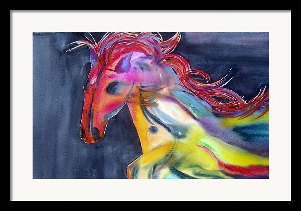 Horse Framed Print featuring the painting Americano by Maritza Bermudez