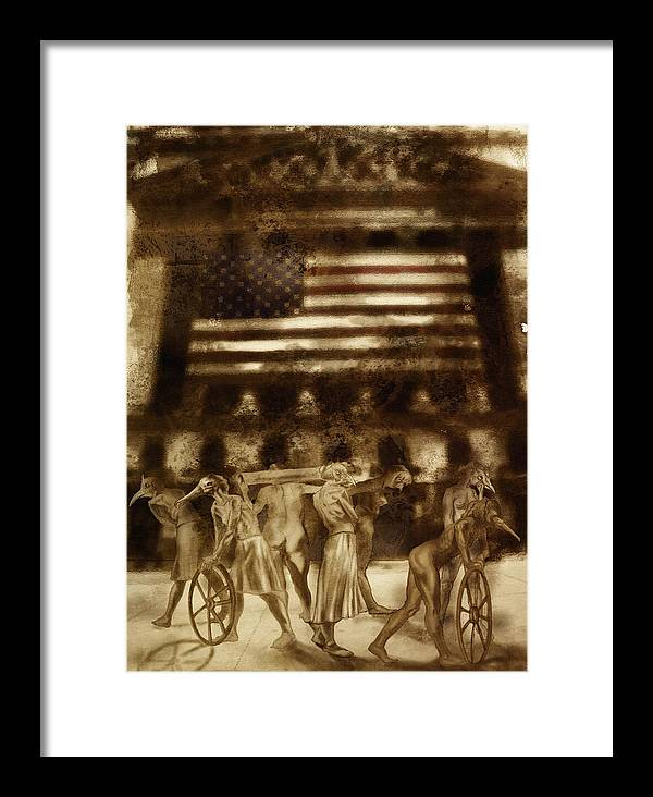 Figure Framed Print featuring the digital art Amerika by Tom Durham