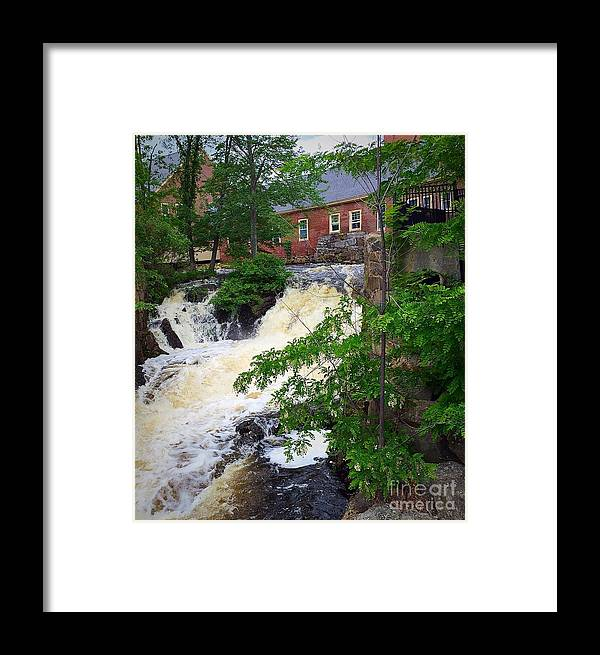 Amesbury Framed Print featuring the painting Amesbury Mill Yard by Anne Sands