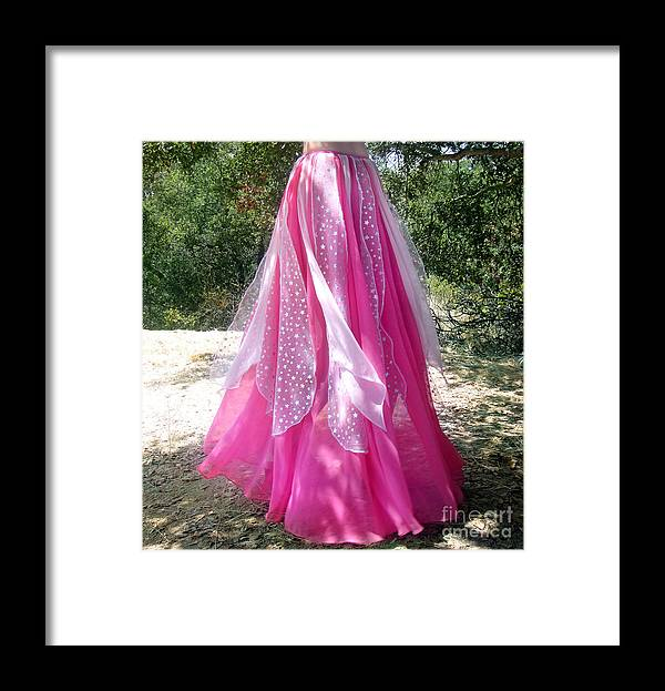 Ameynra Framed Print featuring the photograph Ameynra Design - Pink-white Petal Skirt 146 by Sofia Metal Queen