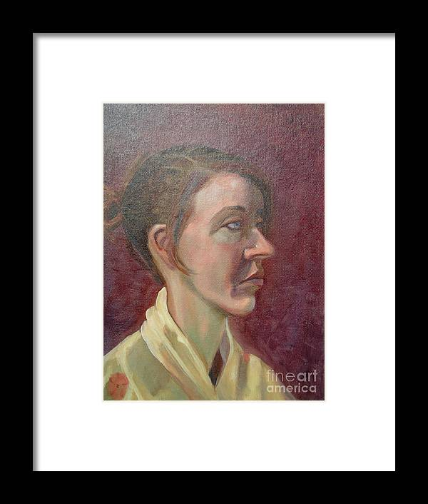 Girl Framed Print featuring the painting Ami Portrait by Lilibeth Andre
