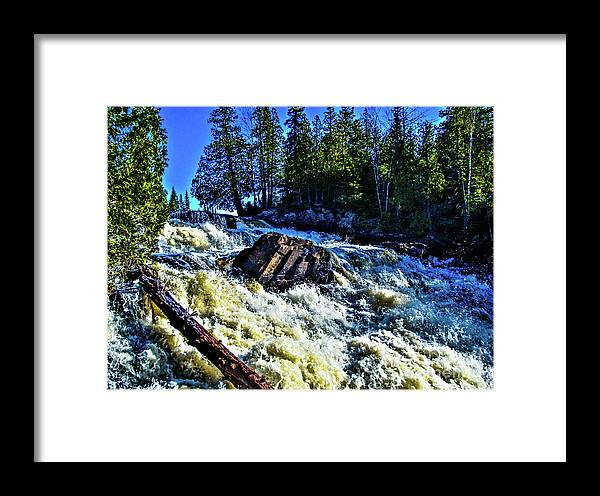 Falls Framed Print featuring the photograph Amincon River Rootbeer Falls by Tommy Anderson