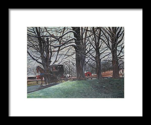 Amish Framed Print featuring the painting Amish 1 by Vickie Brooks