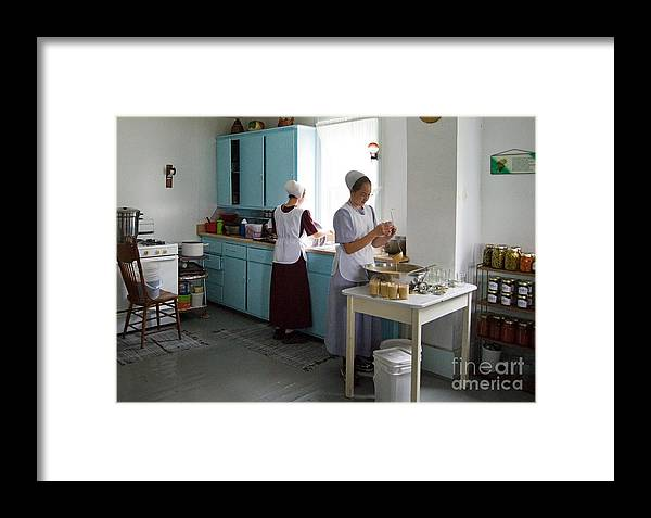 Ohio Framed Print featuring the photograph Amish Kitchen by Fred Lassmann