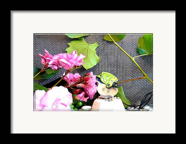 Flower Framed Print featuring the photograph Among Leaves And Flowers by Chara Giakoumaki