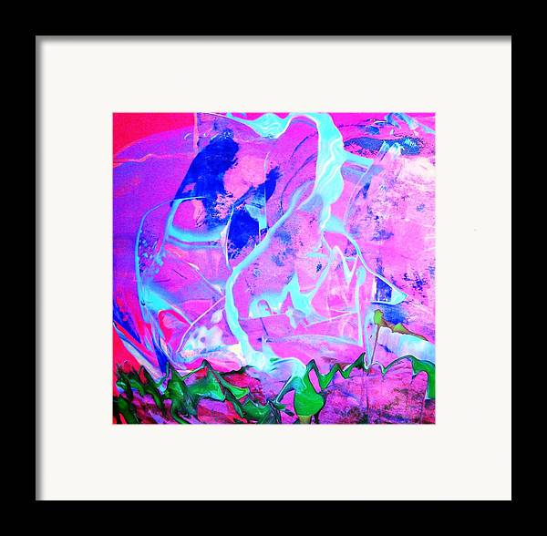 Pink Framed Print featuring the painting Among The Many Mysteries Underneath The Sea by Bruce Combs - REACH BEYOND