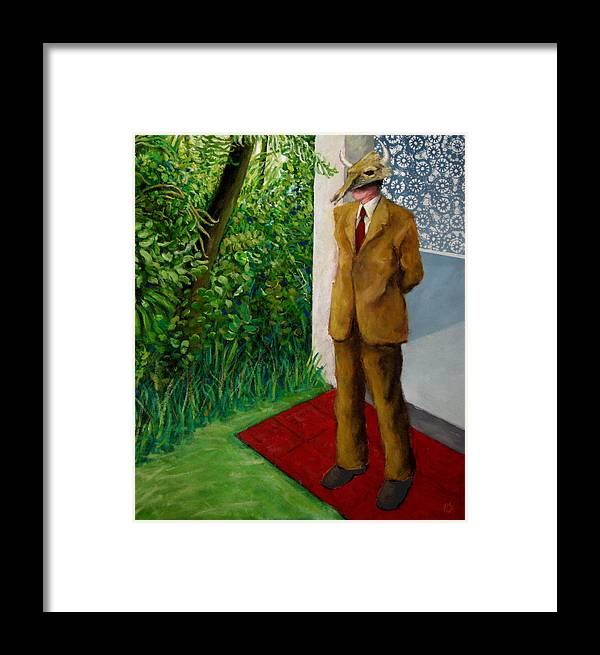 Figure-landscape Framed Print featuring the painting Among Us. by Paul Sierra