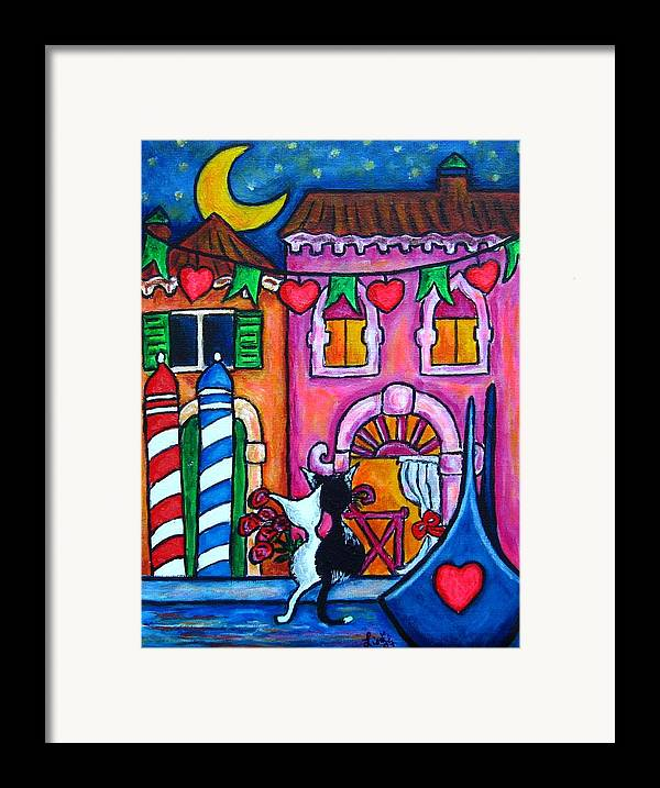 Cats Framed Print featuring the painting Amore In Venice by Lisa Lorenz