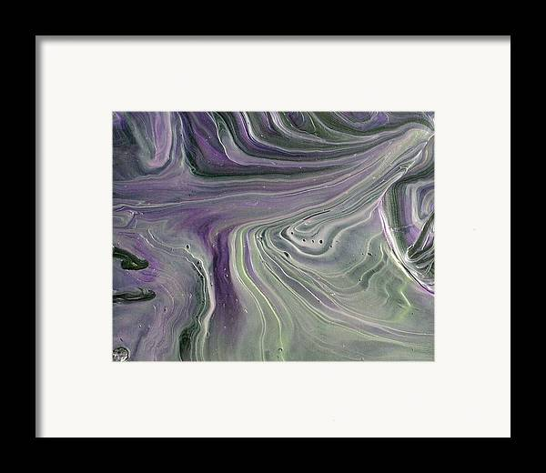 Abstract Framed Print featuring the painting Amore Prima by Patrick Mock