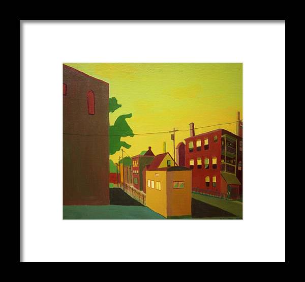 Jamaica Plain Framed Print featuring the painting Amory Street Jamaica Plain by Debra Bretton Robinson