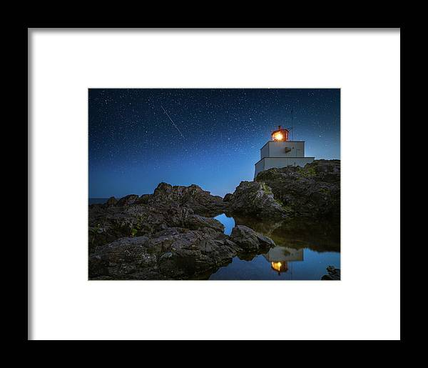 America Framed Print featuring the photograph Amphitrite Point Lighthouse by William Freebilly photography