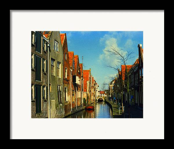 Amsterdam Framed Print featuring the photograph Amsterdam Canal by Jennifer Ott