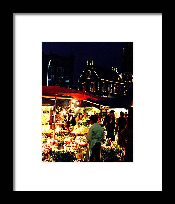 Flowers Framed Print featuring the photograph Amsterdam Flower Market by Nancy Mueller