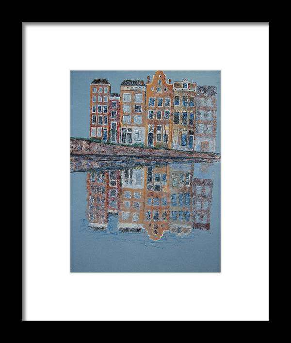 Pastel Framed Print featuring the painting Amsterdam by Marina Garrison