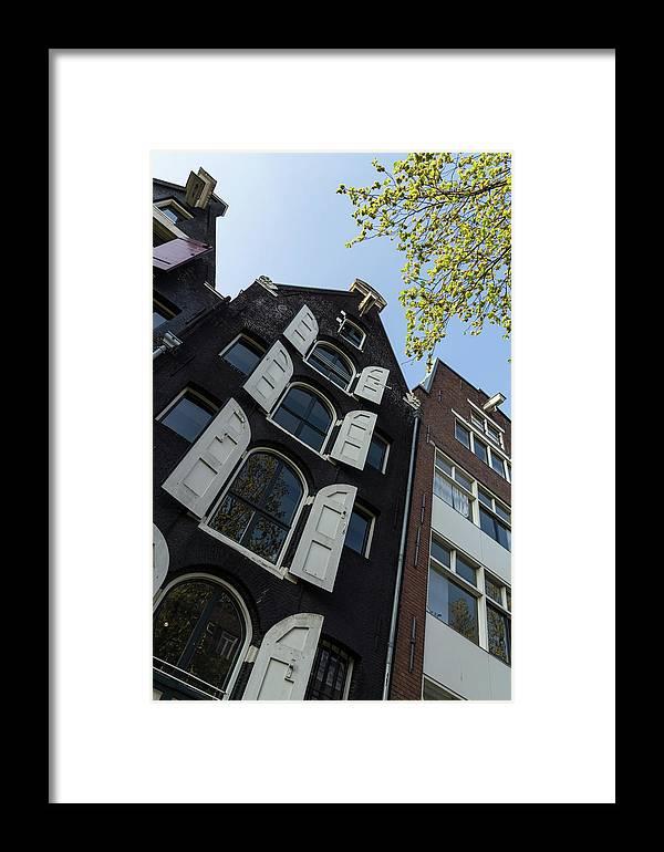 Georgia Mizuleva Framed Print featuring the photograph Amsterdam Spring - Arched Windows And Shutters - Right by Georgia Mizuleva