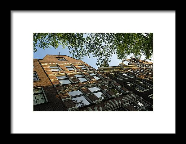 Georgia Mizuleva Framed Print featuring the photograph Amsterdam Spring - Fancy Brickwork Glow - Left Horizontal by Georgia Mizuleva