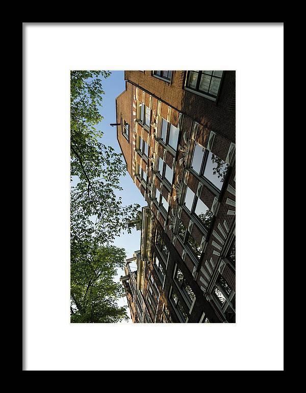 Georgia Mizuleva Framed Print featuring the photograph Amsterdam Spring - Fancy Brickwork Glow - Left Vertical by Georgia Mizuleva