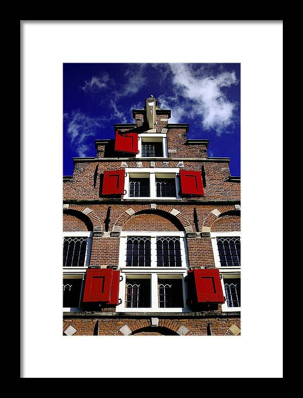 Dutch Framed Print featuring the photograph Amsterdam Windows by Randall Paar