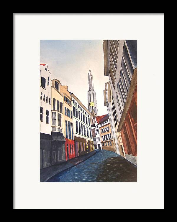 Amstradam Framed Print featuring the painting Amstradam by Robert Thomaston