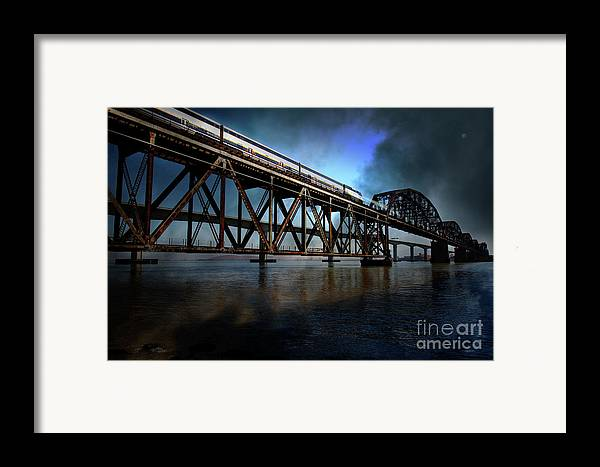 Wingsdomain Framed Print featuring the photograph Amtrak Midnight Express 5d18829 by Wingsdomain Art and Photography