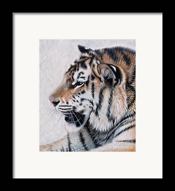 Acrylic Framed Print featuring the painting Amur by Sandi Baker