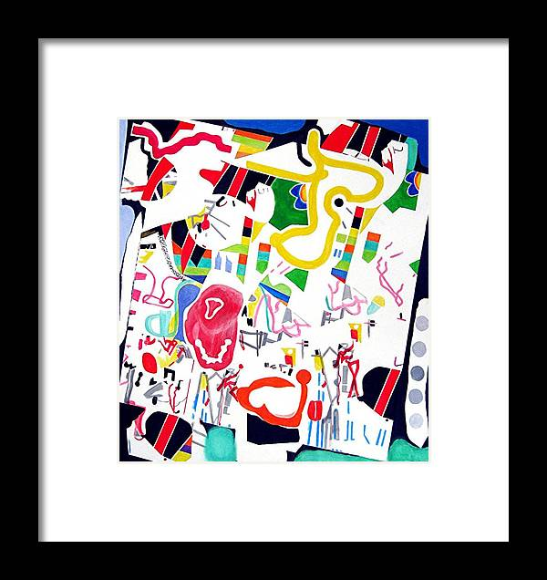 Fun Abstract Framed Print featuring the painting Amusement Park by Barron Holland