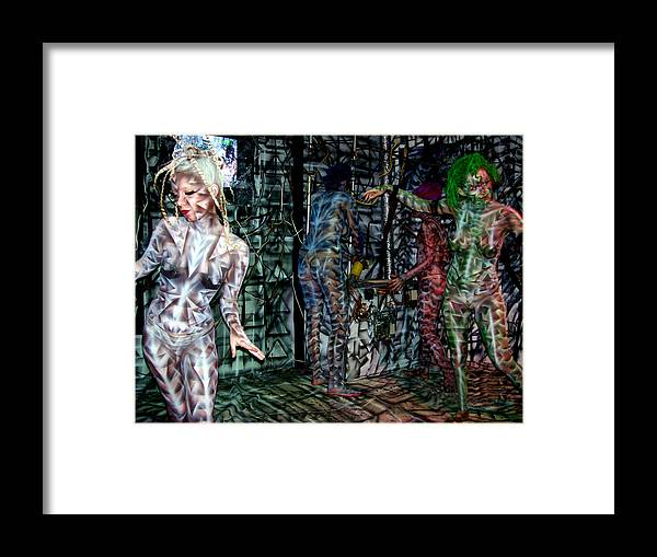 Paintings Framed Print featuring the painting Amy Robot by Leigh Odom